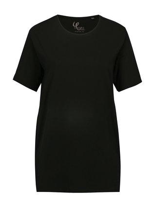 Černé tričko s krátkým rukávem Ulla Popken