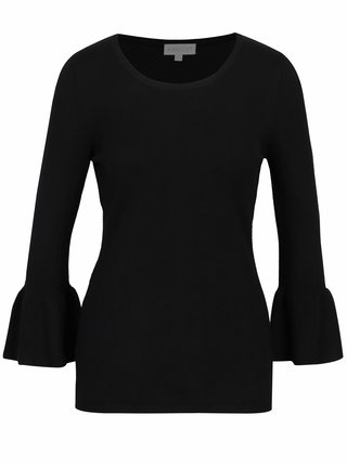 Černý svetr s volány na rukávech Apricot