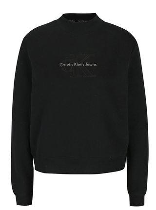 Čierna dámska mikina s výšivkou Calvin Klein Jeans Hazel 243da4a6957