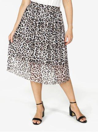Čierno–krémová vzorovaná sukňa VERO MODA Tina