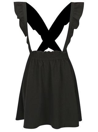 Čierna sukňa s odnímateľnými trakmi ONLY Vacan