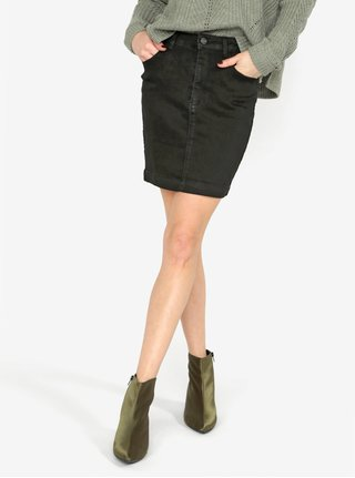 Čierna rifľová sukňa MISSGUIDED