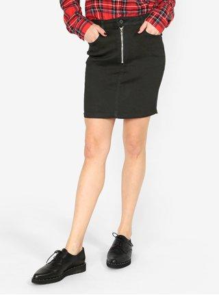 Černá džínová sukně se zipem MISSGUIDED