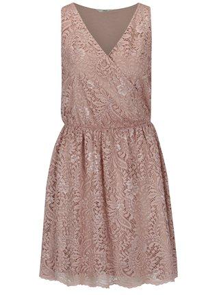 Staroružové čipkované šaty ONLY Sierra