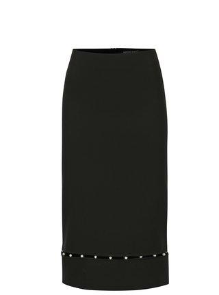 Černá sukně s korálky Dorothy Perkins