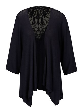 Cardigan bleumarin cu broderie sparta la spate ONLY Marna