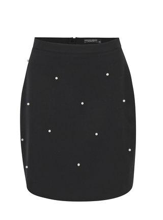 Čierna sukňa s korálikmi Dorothy Perkins