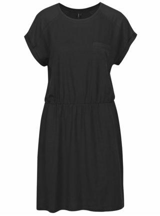 Černé šaty s krátkým rukávem VERO MODA Ava