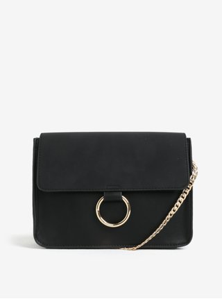 Geanta neagra crossbody Pieces Gry