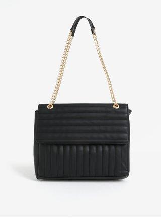 Čierna prešívaná crossbody kabelka Pieces Gigi