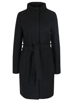 Černý vlněný kabát VILA Bee