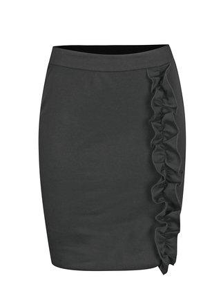 Černá sukně s volánem VILA Tinny