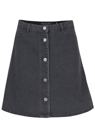 Tmavosivá rifľová sukňa Noisy May Sunny