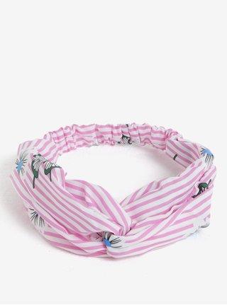 Bílo-růžová holčičí vzorovaná čelenka name it Facc-Jizzy