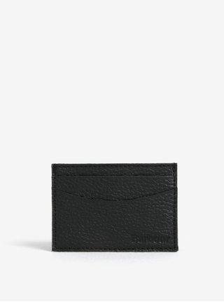 Černé kožené pouzdro na karty Barbour Grain