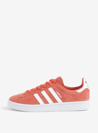 best service d6838 56a49 Pantofi de dama sport corai din piele intoarsa adidas Originals Campus