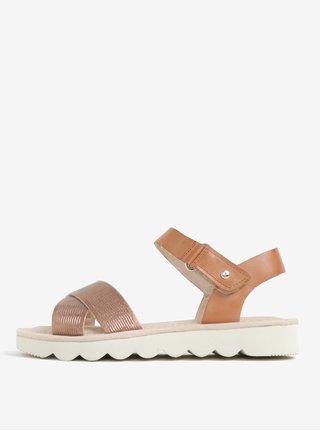 Svetlohnedé kožené sandále Pikolinos Valencia