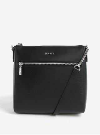 Geanta crossbody neagra din piele naturala -  DKNY Bryant