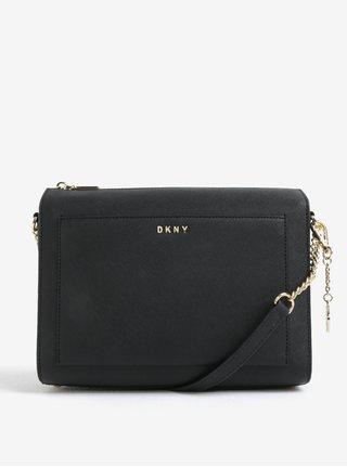 Geanta neagra crossbody din piele naturala cu pandantiv - DKNY Bryant
