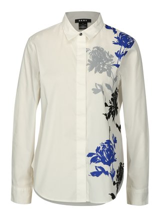 Camasa crem cu print floral DKNY