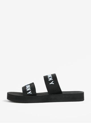 Bílo-černé pantofle DKNY Millie