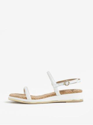 Bílé kožené sandály DKNY
