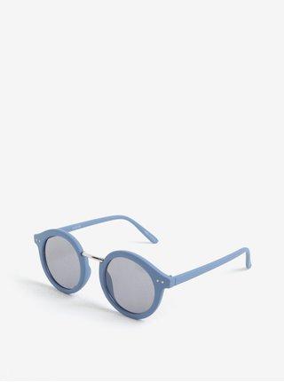 Ochelari de soare retro rotunzi albastri cu aspect mat Pieces Ino