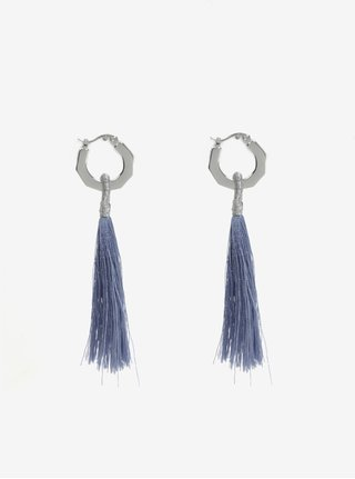 Modré náušnice s třásněmi Pieces Illy