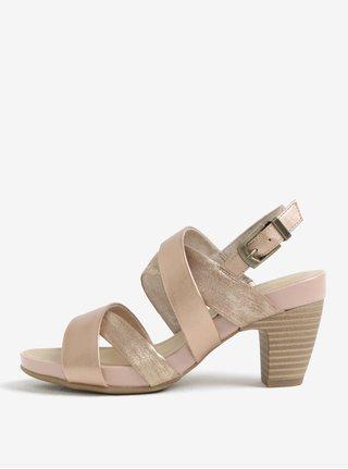 Sandale roz prafuit cu toc si barete incrucisate -  s.Oliver