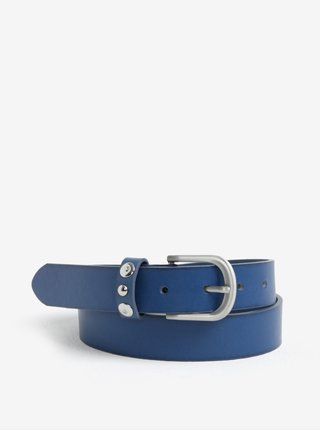 Modrý kožený opasok Pieces Imran