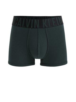 Boxeri verde inchis cu banda elastica cu logo - Calvin Klein Underwear