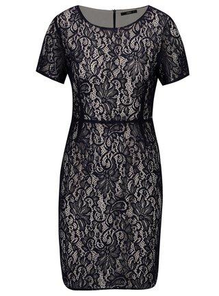 Tmavomodré čipkované šaty ONLY Louisa