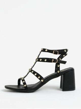 Sandale negre cu tinte aurii MISSGUIDED