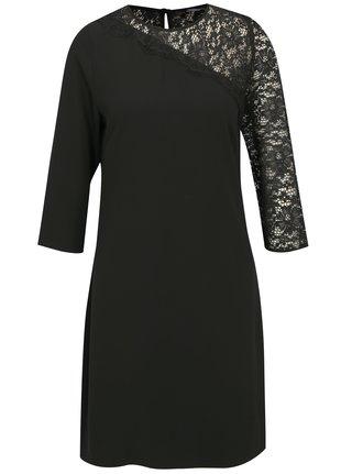 Čierne šaty s 3 4 rukávom a čipkou Dorothy Perkins e2dd8454efb