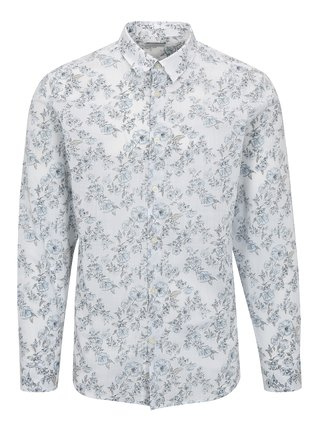 Camasa alba cu print floral - Selected One Florals