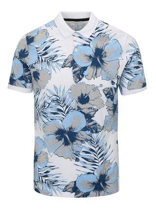 Modro-biela kvetovaná polokošeľa Selected Homme Flower