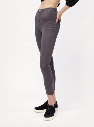 Šedé skinny džíny s vysokým pasem MISSGUIDED 14e574a8ab