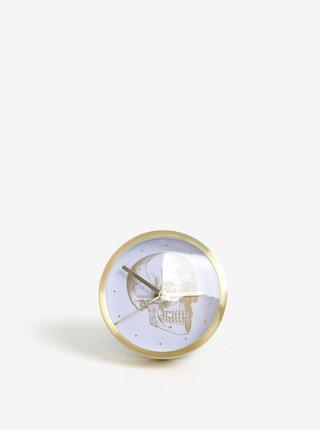 Ceas auriu&alb cu print craniu Magpie Gold Skull