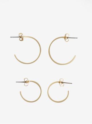 Súprava dvoch párov kruhových náušníc v zlatej farbe VILA Efj Hoops