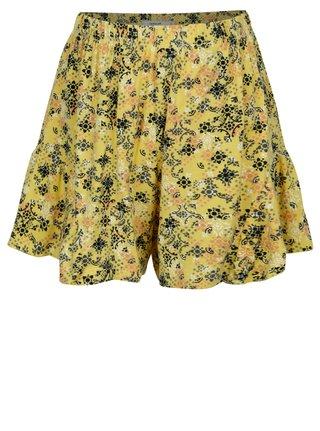 Žlté dievčenské vzorované kraťasy name it Kendra