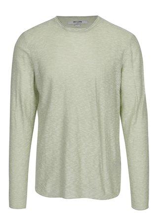 Svetlozelený melírovaný tenký sveter ONLY & SONS Paldin
