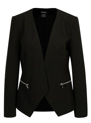 Sacou negru cu fermoare DKNY