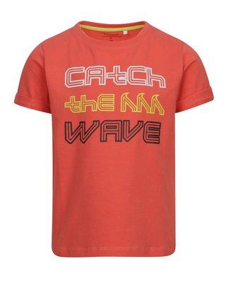 Červené chlapčenské tričko s potlačou name it Vux