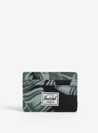 Čierno–zelené puzdro na karty Herschel Charlie