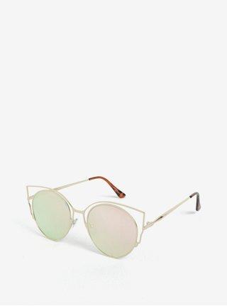 Ochelari de soare cat-eye aurii pentru femei - Jeepers Peepers