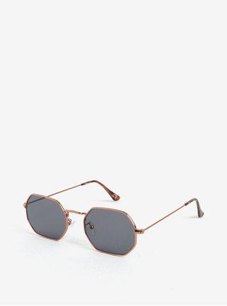 Hranaté slnečné okuliare v medenej farbe Jeepers Peepers