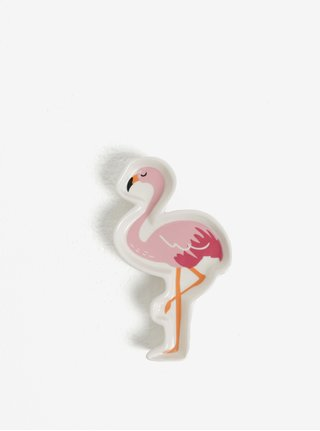 Farfurie ceramica tip flamingo pentru bijuterii - CGB