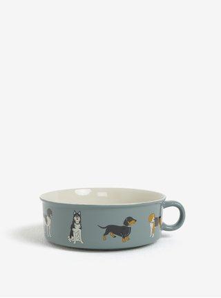 Sivá miska pre psov CGB