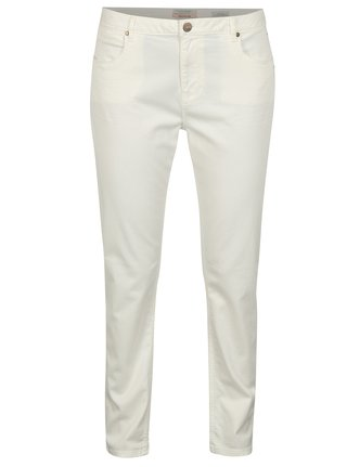 Blugi cropped slim albi cu broderie Scotch & Soda