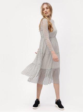 47340965dd3 Bílé puntíkované šaty VERO MODA Sofie